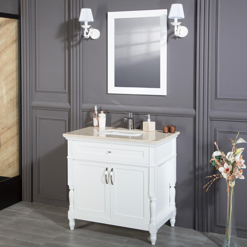 Paterson 36 inch White Bathroom Cabinet | Vanity Sale