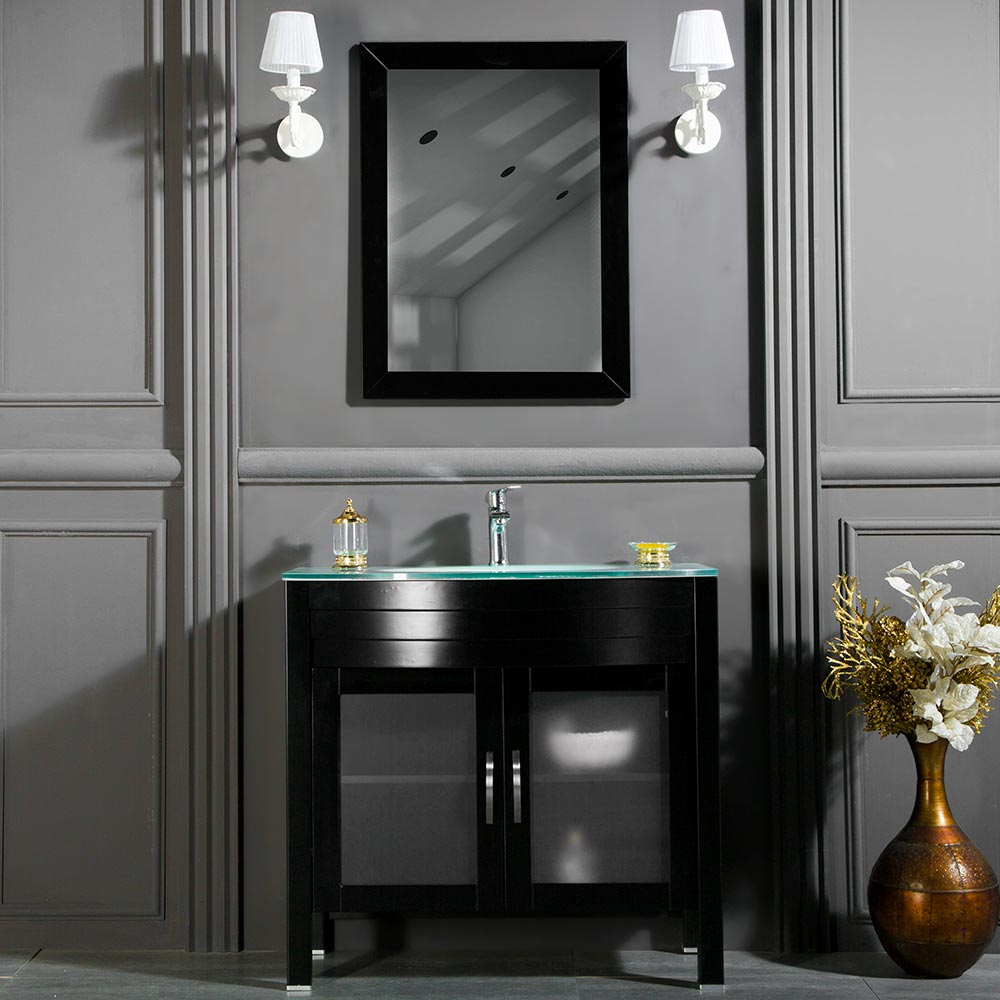 AWIS 30  BLACK BATHROOM CABINET & Traditional Contemporary Bathroom Vanity Awis 30 Inch Black | Vanity ...