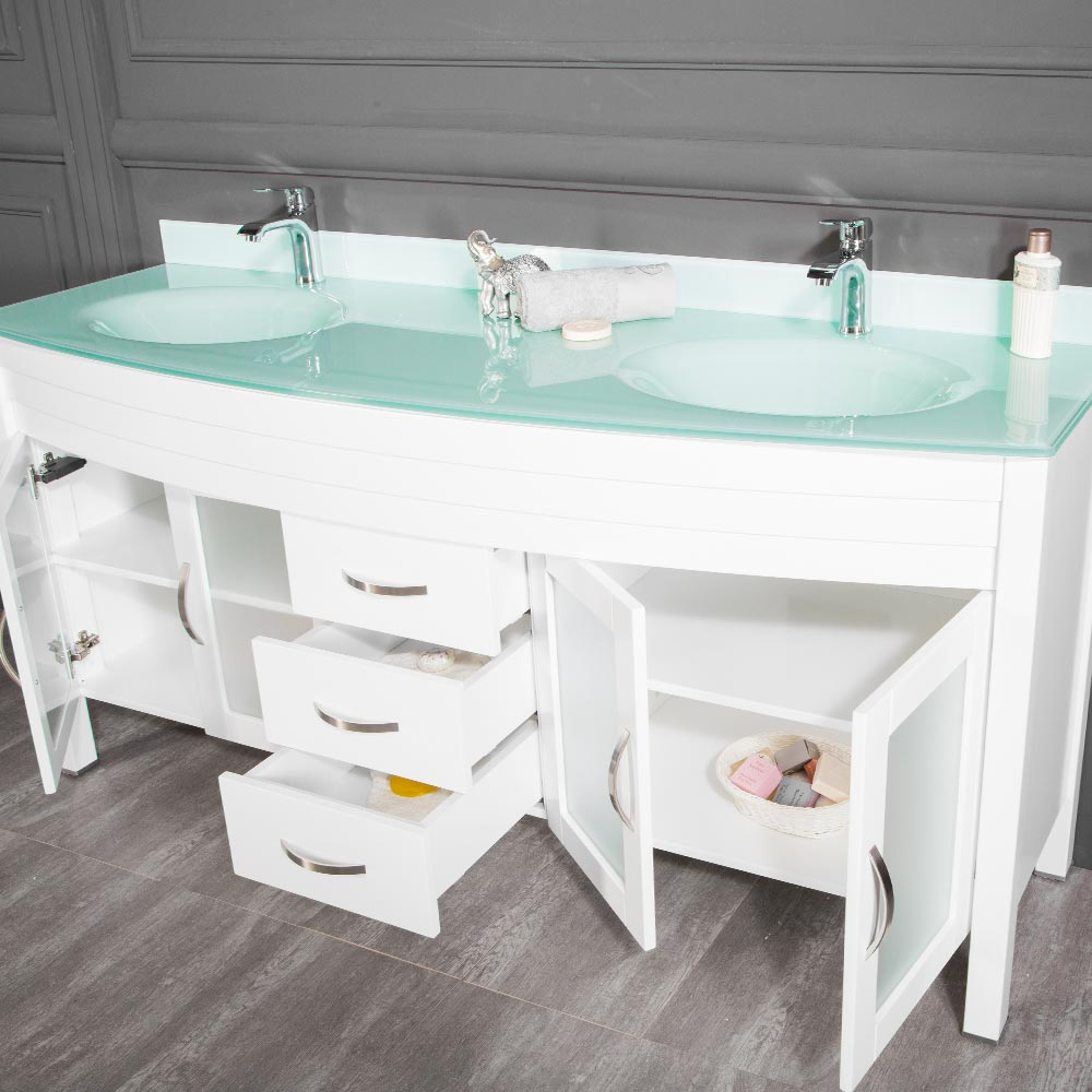 72 Inch White Bathroom Vanity
