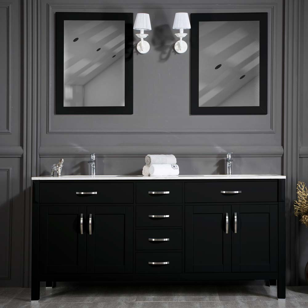 Black And Silver Kitchen Faucet