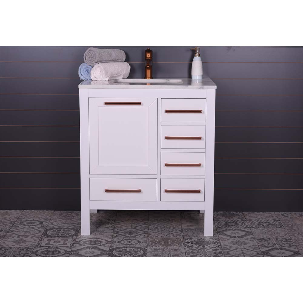 Grove 30 Inch White Bathroom Vanity | Vanity Sale