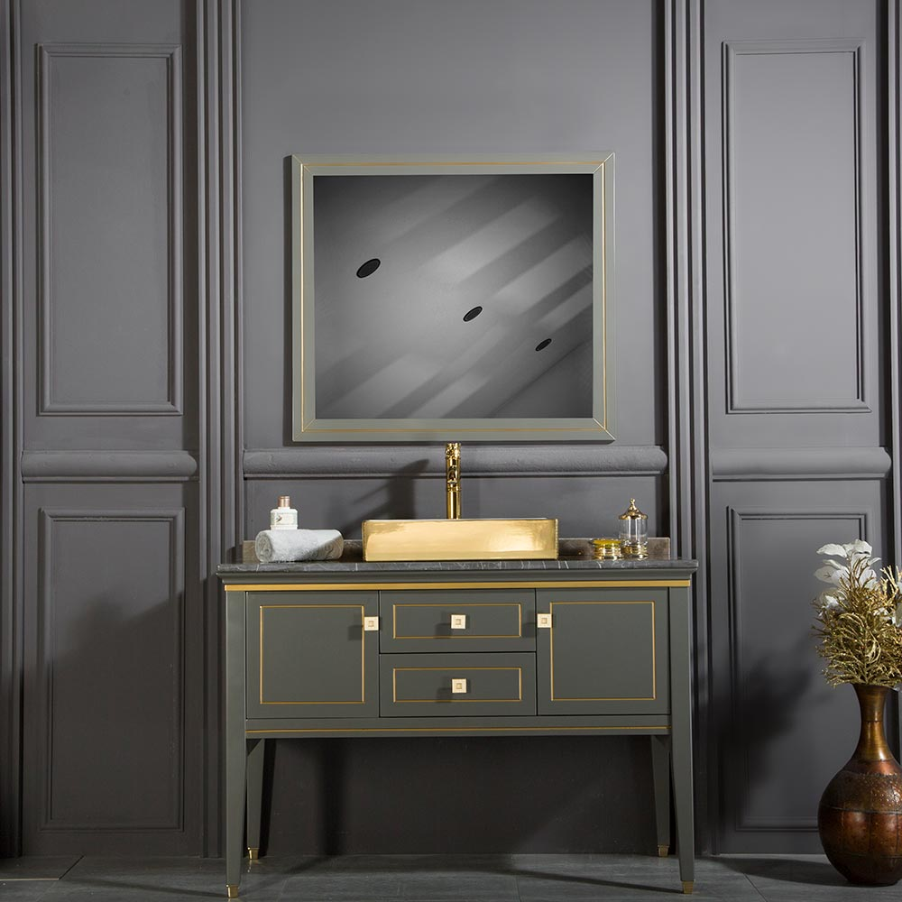 Ton 48 Anthracite Gold Bathroom Cabinet