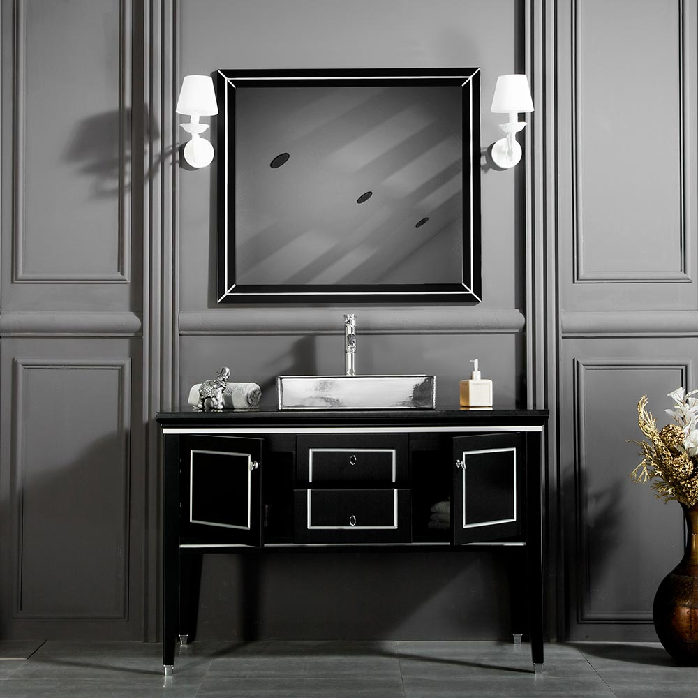 Black Silver Bathroom Vanities I 1 Free Standing Bath Cabinet