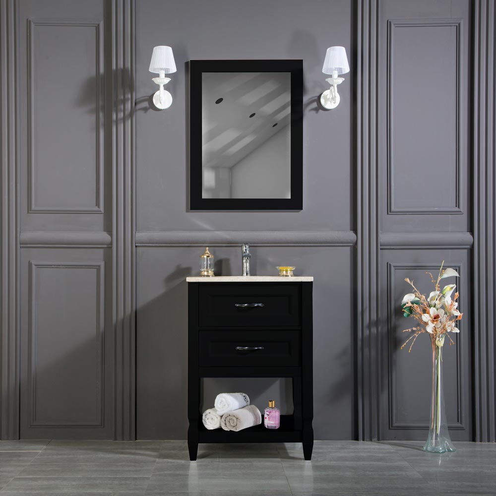 Old Bridge 24 Inch Black Bathroom Cabinet Vanity Sale