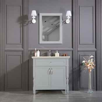 "Paterson 36"" Gray Bathroom Cabinet"