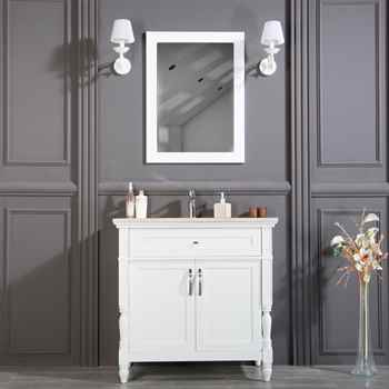 "Paterson 36"" White Bathroom Cabinet"