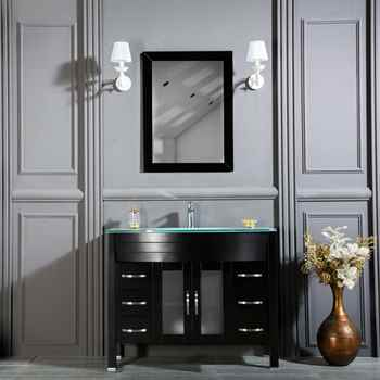 "Jersey City 42"" Black Bathroom Cabinet"