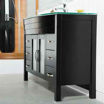 "Jersey City 56"" Black Bathroom Cabinet"