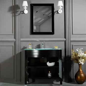 "Jersey City 36"" Black Bathroom Cabinet"