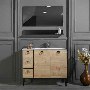 "Elizabeth 39 1/2"" Oak Bathroom Cabinet"