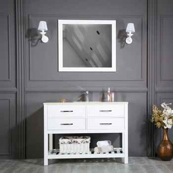 "Edison 42"" White Bathroom Cabinet"