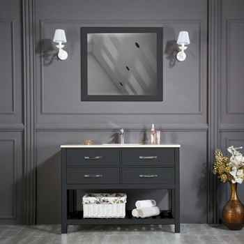 "Edison 48"" Anthracite Bathroom Cabinet"