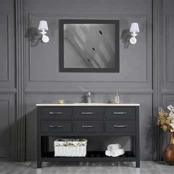 "Edison 56"" Anthracite Bathroom Cabinet"