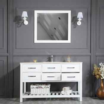 "Edison 56"" White Bathroom Cabinet"
