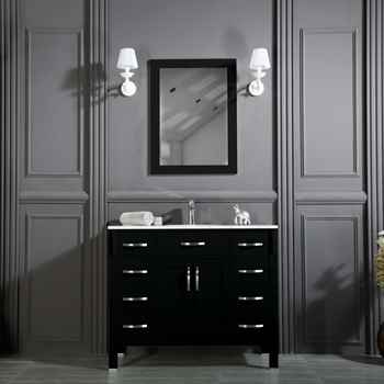 "Woodbridge 42"" Black Bathroom Cabinet"