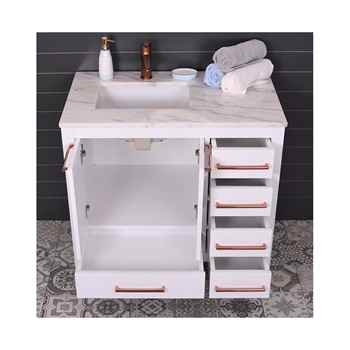 "Grove 36"" White Bathroom Vanity"
