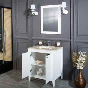 "Lakewood 30"" White Bathroom Cabinet"