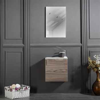 "Chicago 18"" Gray Oak Bathroom Cabinet"
