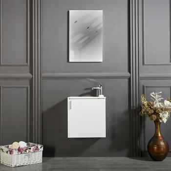 "Chicago 18"" White Bathroom Cabinet"