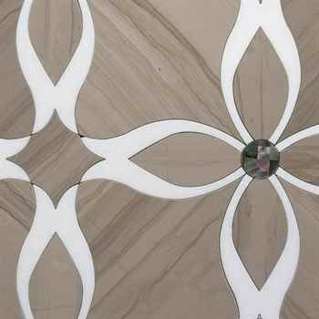Lily Custom Water Jet Mosaic Design