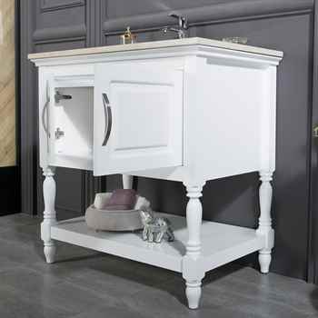 "Hamilton 30"" White Bathroom Cabinet"