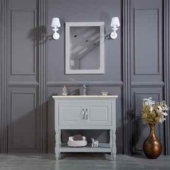 "Hamilton 36"" Light Gray Bathroom Cabinet"