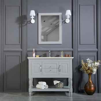 "Hamilton 42"" Light Gray Bathroom Cabinet"