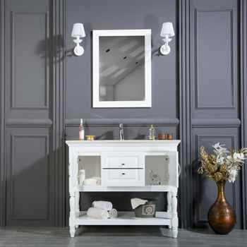 "Hamilton 42"" White Bathroom Cabinet"