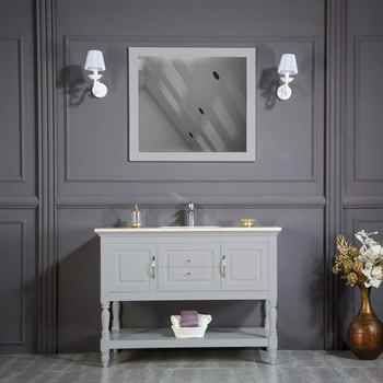 "Hamilton 48"" Light Gray Bathroom Cabinet"