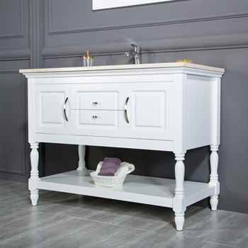 "Hamilton 48"" White Bathroom Cabinet"