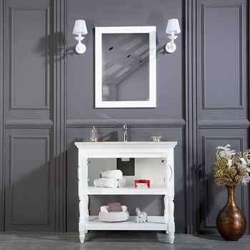 "Hamilton 36"" White Bathroom Cabinet"