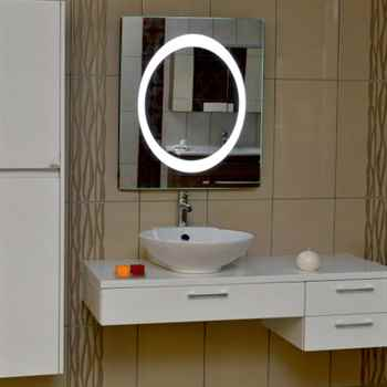 "Luna 23 1/2"" Square Led Mirror"