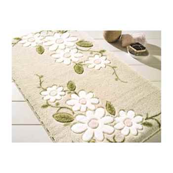 "Margherita Bath Rug 19 3/8 x 22 1/2"" Beige Engraved 100% Polyamide"