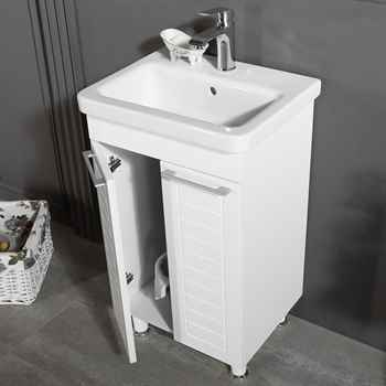 "Clifton 19 3/4"" White Bathroom Cabinet"
