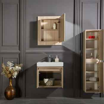 "Brick 24"" Oak Bathroom Cabinet"