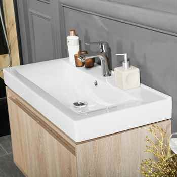 "Brick 35"" Oak Bathroom Cabinet"