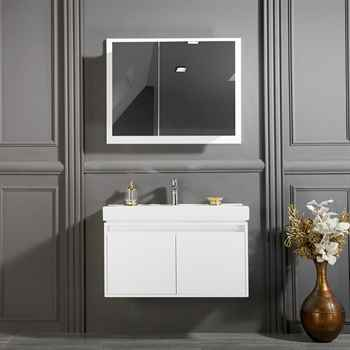 "Brick 35"" White Bathroom Cabinet"
