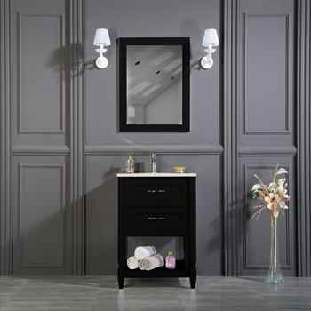 "Old Bridge 24"" Black Bathroom Cabinet"