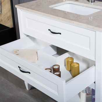 "Old Bridge 36"" White Bathroom Cabinet"